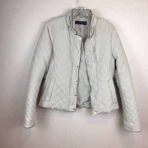 Zara quilted jacket in cream